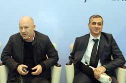 Dünya Melek Yatırım Forumu Başkanı Baybars Altuntaş ve Hazine Müsteşarlığı Mali Sektörle İlişkiler ve Kambiyo Genel Müdür V. Hakan Ertürk