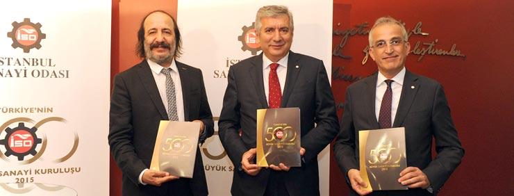 """İSO, """"Türkiye'nin 500 Büyük Sanayi Kuruluşu-2015"""" Araştırmasını Açıkladı"""