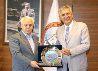 İSO Başkanı Bahçıvan, Muğla Valisi Civelek ve Muğla TSO Başkanı Karakuş'u Ziyaret Etti 02