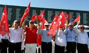 Yüzbinler, Albayrak'larıyla Demokrasi ve Şehitler Mitingi için Yenikapı'da Buluştu 05