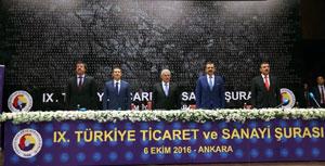 IX. Türkiye Ticaret ve Sanayi Şurası Başbakan ve Bakanların Katılımıyla Yapıldı 01