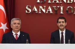 İSO Başkanı Erdal Bahçıvan (solda) ve Ekonomi Bakanlığı Müsteşarı İbrahim Şenel
