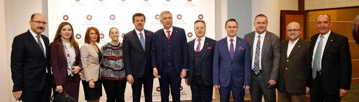 MESKOM-Ekonomi Bakanlığı Ortak Akıl ve İstişare Toplantısı Ekonomi Bakanı Nihat Zeybekci'nin Katılımıyla Yapıldı 01