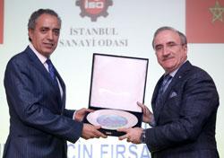 Fas Krallığı İstanbul Başkonsolosu M'hamed Ifriquine, İSO Yönetim Kurulu Sayman Üyesi Sadık Ayhan Saruhan