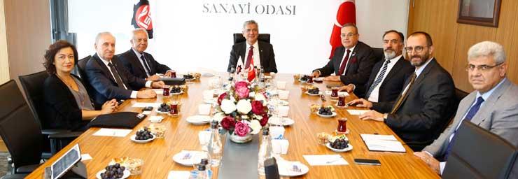 Türkiye İnşaat Malzemesi Sanayicileri Derneği  Yönetimi, İSO Başkanı Bahçıvan'ı Ziyaret Etti