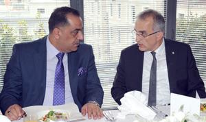 Irak Ticaret Odaları Federasyonu Başkanı Jaafar Rasoul Jafaar Al Hamadani ,İSO Yönetim Kurulu Başkan Yardımcısı İrfan Özhamaratlı