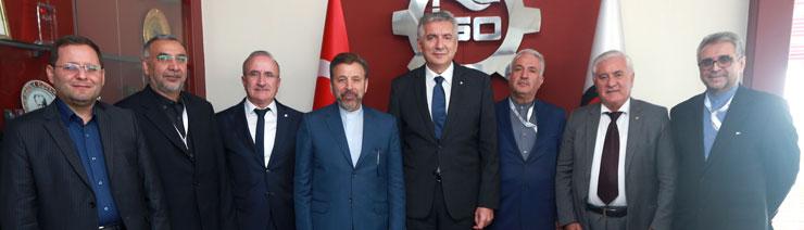 İran Teknoloji Bakanı Mahmoud Vaezi İSO Başkanı Erdal Bahçıvan'ı Ziyaret Etti 01