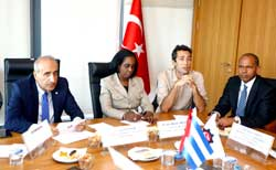 Cuban Delegation that is in Turkey Visits Istanbul Chamber of Industry