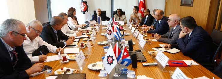 Cuban Delegation that is in Turkey Visits Istanbul Chamber of Industry 03