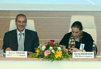 İSO Meclis Başkanı Zeynep Bodur Okyay ve MTSO Meclis Başkanı Sami Payza