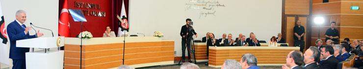Başbakan Binali Yıldırım, Yenilenen Odakule'yi Açarak İSO Meclisi'ne Katıldı 01