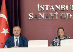 İSO Meclis Başkanı Zeynep Bodur Okyay ve İSO Meclis Başkan Yardımcısı İsmail Gülle