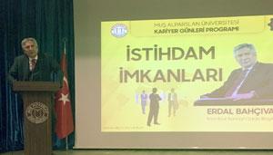 İSO Başkanı Erdal Bahçıvan Muş'ta Tarım Çalıştayı ve Kariyer Günlerine Katıldı