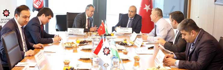 Özbekistan Ekonomi Bakanlığı Heyeti İstanbul Sanayi Odası'nı Ziyaret Etti