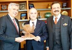 Bilim, Sanayi ve Teknoloji Bakanı Özlü ve TOBB Başkanı Hisarcıklıoğlu İSO Yönetim Kurulu Başkanlık Divanı'na Tebrik Ziyaretinde Bulundu
