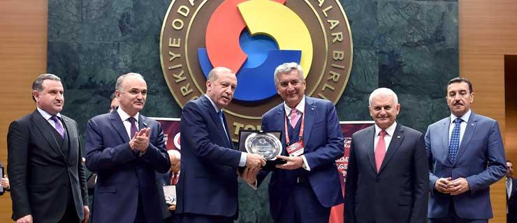 TOBB Hizmet Belgesi Takdim Töreni Cumhurbaşkanı Recep Tayyip Erdoğan'ın Katılımı ile Yapıldı