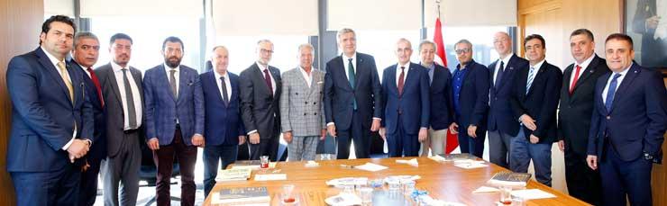 TRİSAD Yönetimi, İSO Başkanı Erdal Bahçıvan'ı Ziyaret Etti