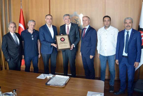 21. Grup MESKOM Üyeleri'nden İSO Başkanı Bahçıvan'a Ziyaret