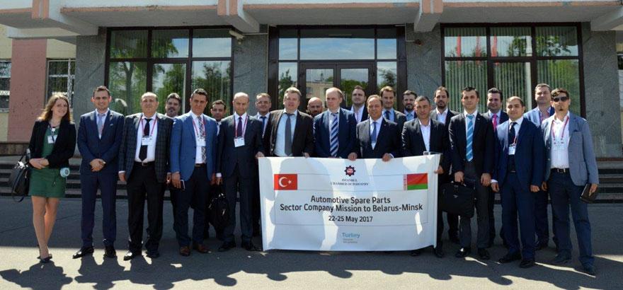 İstanbul Sanayi Odası 37. Grup Otomotiv Ana ve Yan Sanayii Meslek Komitesi Üyeleri Belarus'a Çalışma Ziyaretinde Bulundu