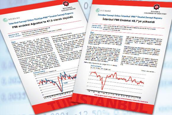 İstanbul Sanayi Odası Türkiye ve İstanbul İmalat PMI Ağustos 2016 Raporları Açıklandı