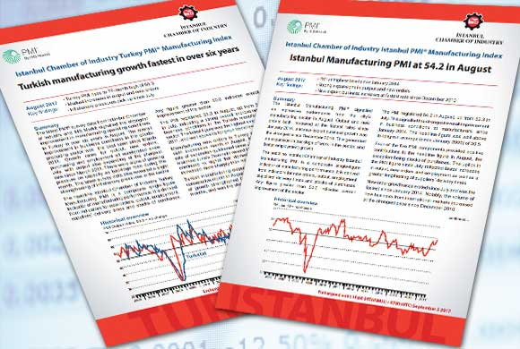 Istanbul Chamber of Industry Announces Turkey and Istanbul Manufacturing PMI Reports for August 2017