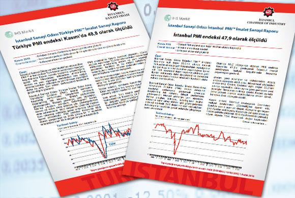 İstanbul Sanayi Odası Türkiye ve İstanbul İmalat PMI Kasım 2016 Raporları Açıklandı