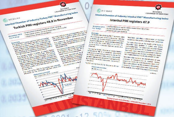 Istanbul Chamber of Industry Announces the Turkey and Istanbul PMI Manufacturing Survey Results for November 2016