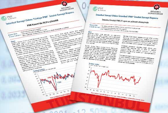 İstanbul Sanayi Odası Türkiye ve İstanbul İmalat PMI Kasım 2019 Raporları Açıklandı