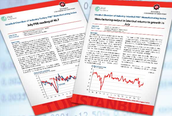 Istanbul Chamber of Industry Announces Turkey and Istanbul Manufacturing PMI July 2019 Reports