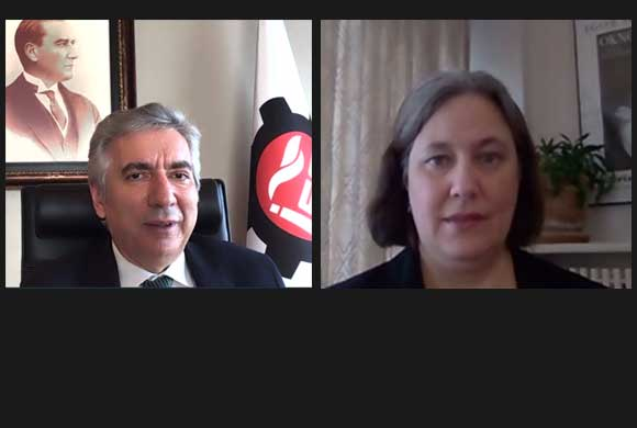 Erdal Bahçıvan, the Board of Directors of Istanbul Chamber of Industry Held a Video Conference with Daria Darnell, USA Consul General in Istanbul.