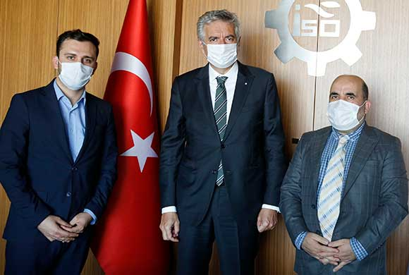 Asadullah Azadani, the Trade Attaché of Afghanistan visited Erdal Bahçıvan, the ICI President