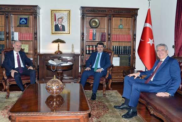 İSO Başkanı Erdal Bahçıvan ve İTO Başkanı Şekib Avdagiç Ankara'nın Yeni Valisi Vasip Şahin'i Ziyaret Etti