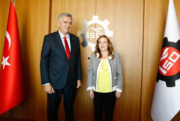 Kadzadej, Istanbul Consul General of Albania Visited Erdal Bahçıvan, ICI President