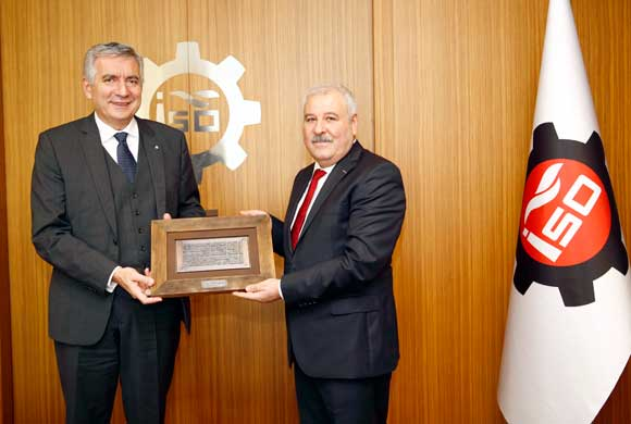 Asrın İşadamları Derneği Yönetiminden İSO Başkanı Erdal Bahçıvan'a Ziyaret