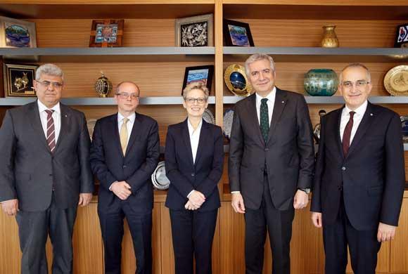 Avusturya'nın Ankara Büyükelçisi Dr. Ulrike Tilly İSO Başkanı Erdal Bahçıvan'ı Ziyaret Etti