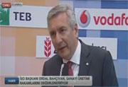 İSO Başkanı Bahçıvan, Bloomberg TV'de, 8.10.2015