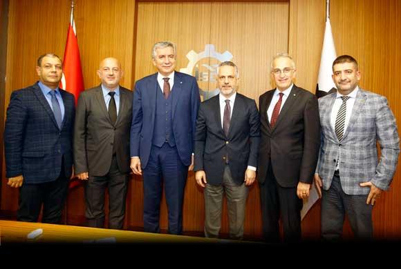Eylül Ayında Göreve Gelen BATİAD'ın Yeni Yönetimi, İSO Yönetimi'ni Ziyaret Etti