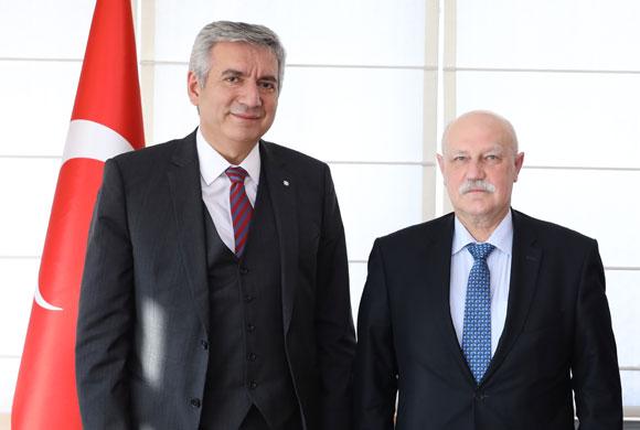 Mironoviç, Consul General of Belarus Pays Courtesy Visit to ICI Chairman Bahçıvan
