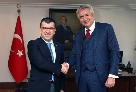 İSO Başkanı Erdal Bahçıvan, Beyoğlu'nun Yeni Kaymakamı Savaş Ünlü'yü Ziyaret Etti