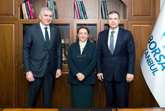 İSO Başkanı Erdal Bahçıvan, BİST Yönetim Kurulu Başkanı Prof. Dr. Erişah Arıcan'ı Ziyaret Etti