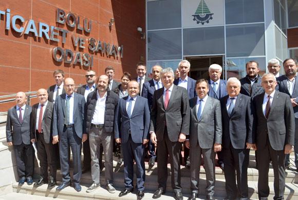 İSO Yönetimi'nden Bolu Ticaret ve Sanayi Odası'na Nezaket Ziyareti