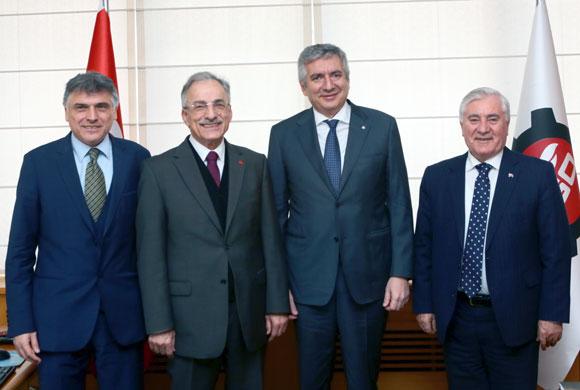 CHP İstanbul İl Başkanı Murat Karayalçın'dan İSO Başkanı Bahçıvan'a Nezaket Ziyareti