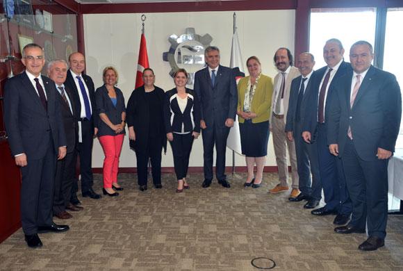 CHP'nin Ekonomi Yönetimi, İSO Meclis Divanı ve Yönetim Kurulu'nu Ziyaret Etti