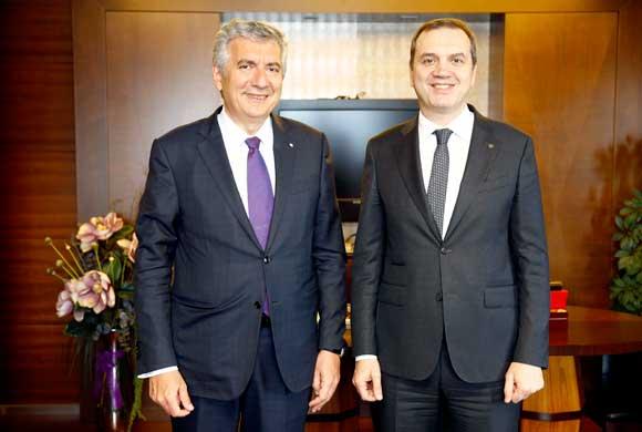 İSO Yönetim Kurulu Başkanı Bahçıvan DTO Başkanı Tamer Kıran'ı Ziyaret Etti