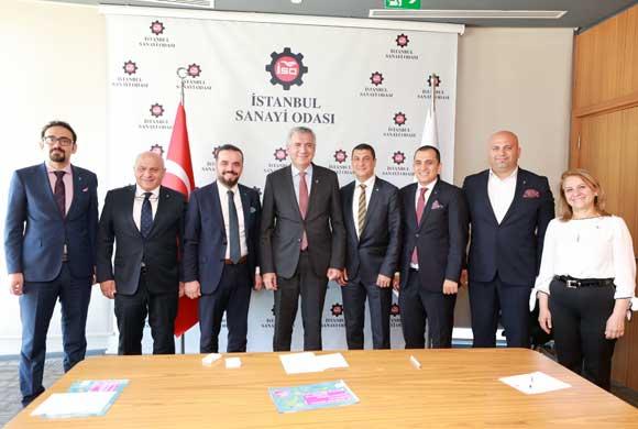 EVSİD Yönetimi, İSO Başkanı Bahçıvan'ı Ziyaret Ederek Faaliyetlerini Anlattı