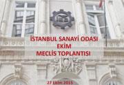 İstanbul Sanayi Odası Ekim Meclis Toplantısı, 27.10.2015