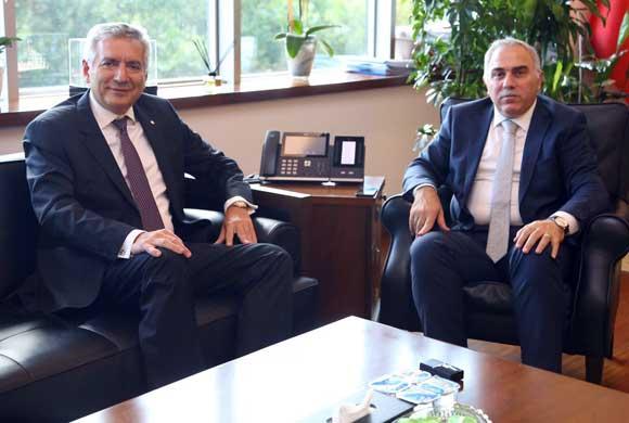 İSO Başkanı Erdal Bahçıvan'dan Fatih Belediye Başkanı M. Ergün Turan'a Ziyaret