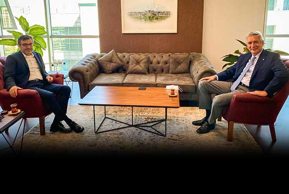 İSO Başkanı Bahçıvan, Cumhurbaşkanlığı Finans Ofisi Başkanı Göksel Aşan'ı Ziyaret Etti