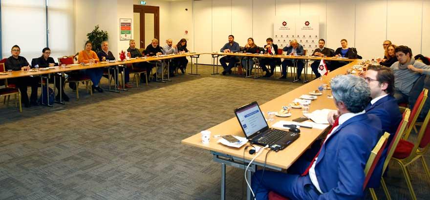 20. Grup Çorap Sanayii Meslek Komitemiz Eximbank Kredileri ve Destekleri Konulu Genişletilmiş Sektör Toplantısı Gerçekleştirdi