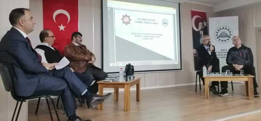 """İSO Mesleki Eğitim Projesi Kapsamında Kartal Şehit Öğretmen Hüseyin Ağırman MTAL'de """"Eğitimden Üretime Sektörle İşbirliği'' Paneli Düzenlendi"""